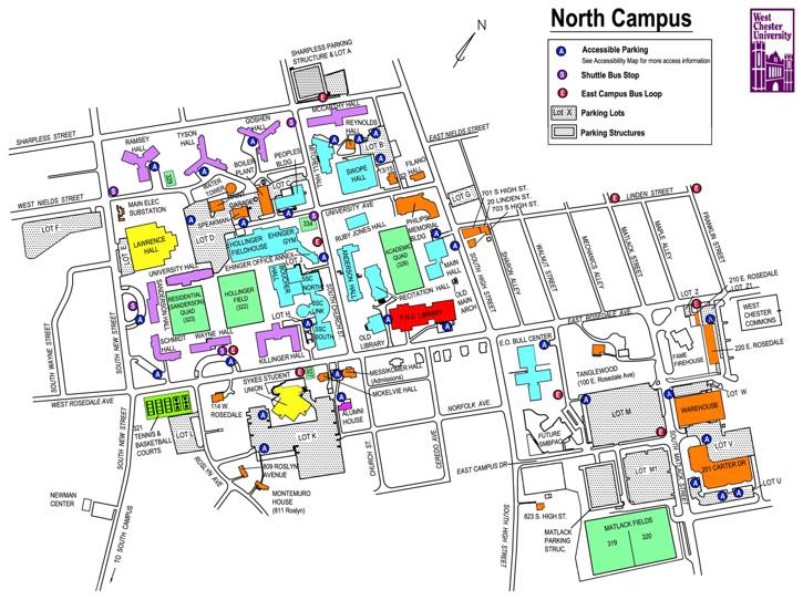 West Chester University Map World Map 07