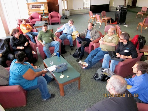 A small group discussion